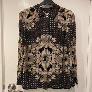 Tory Burch silk floral blouse size 8 RRP $469